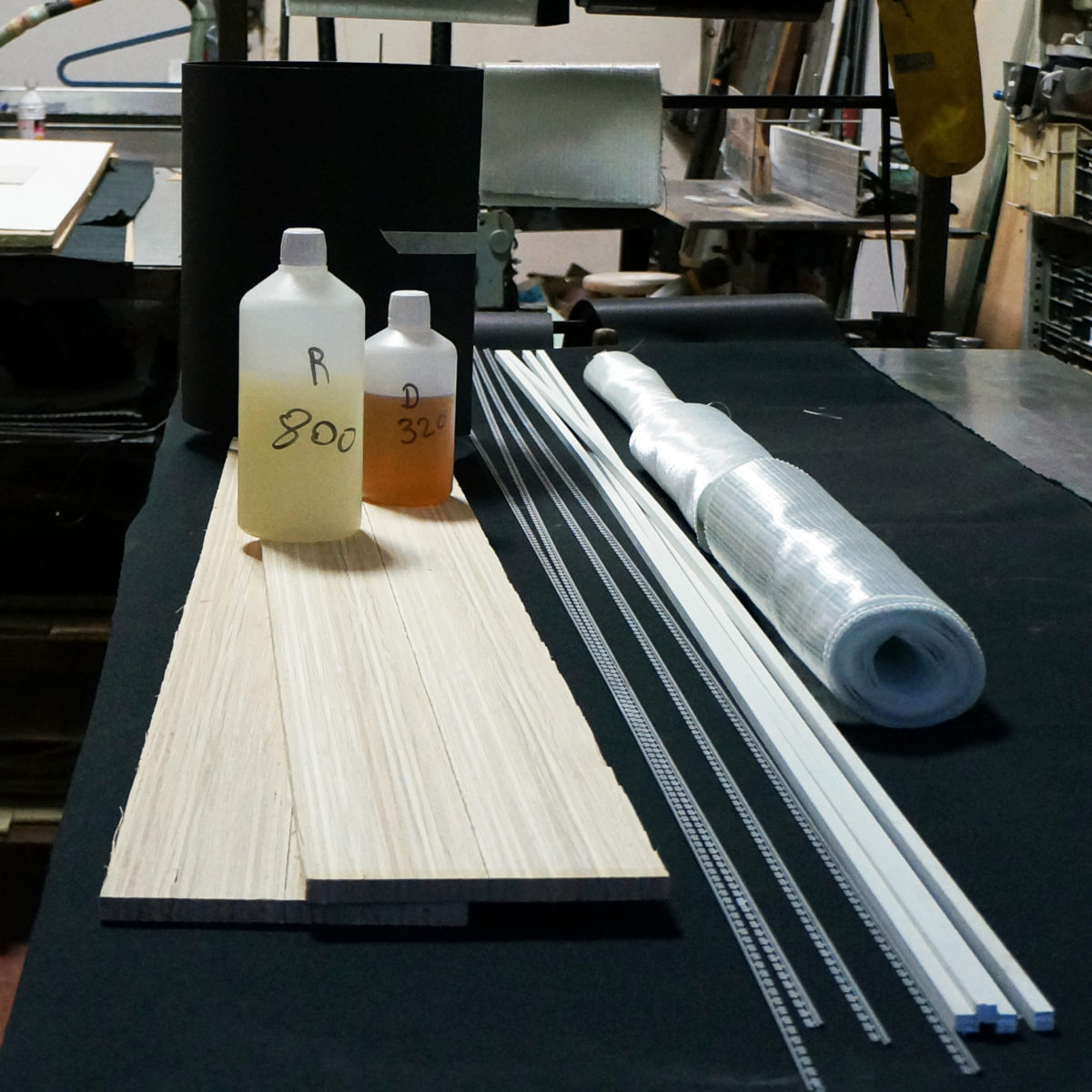 Kit DIY pour fabriquer ses skis noyau bamboo