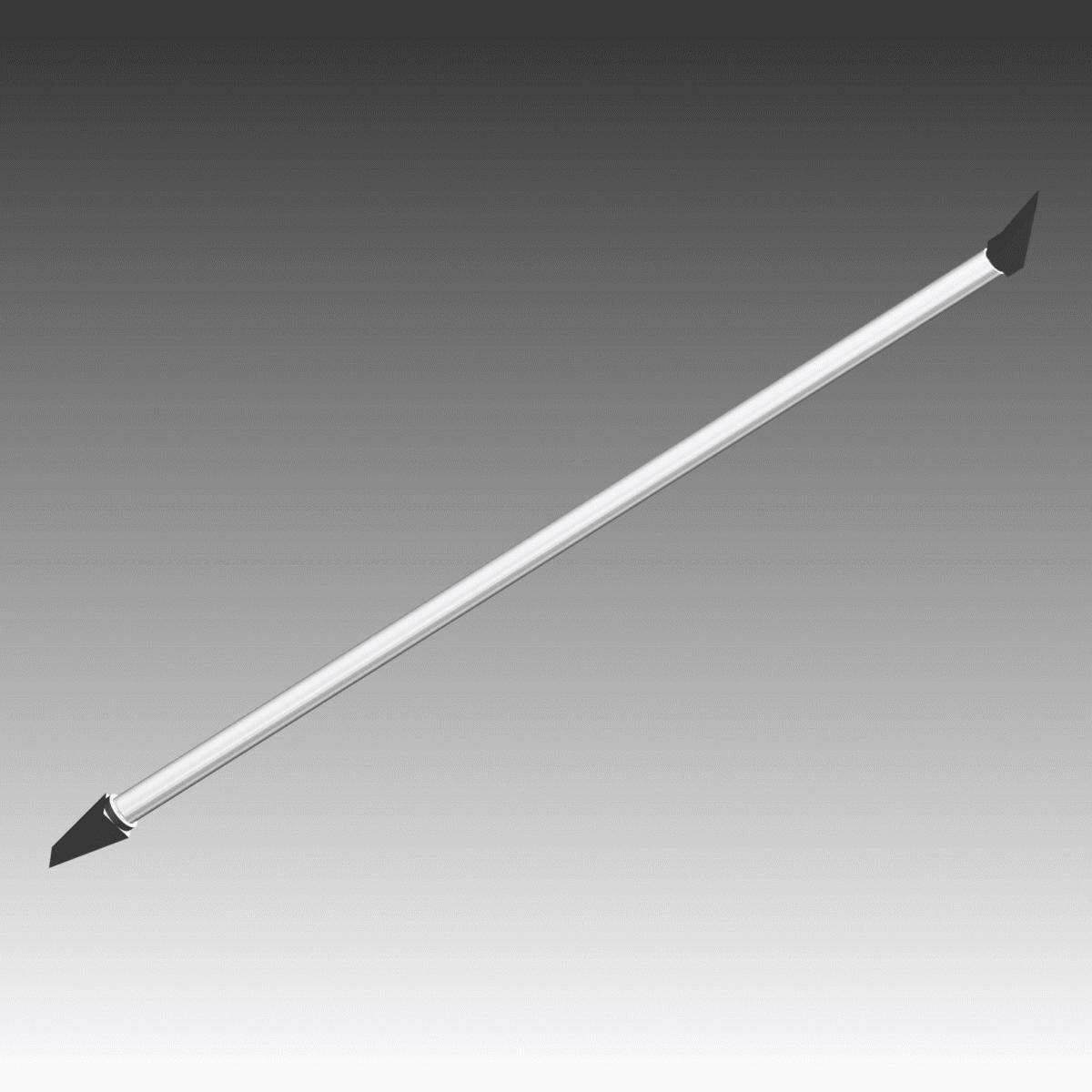 Pince ou canne à purger en aluminium pied de biche 140°