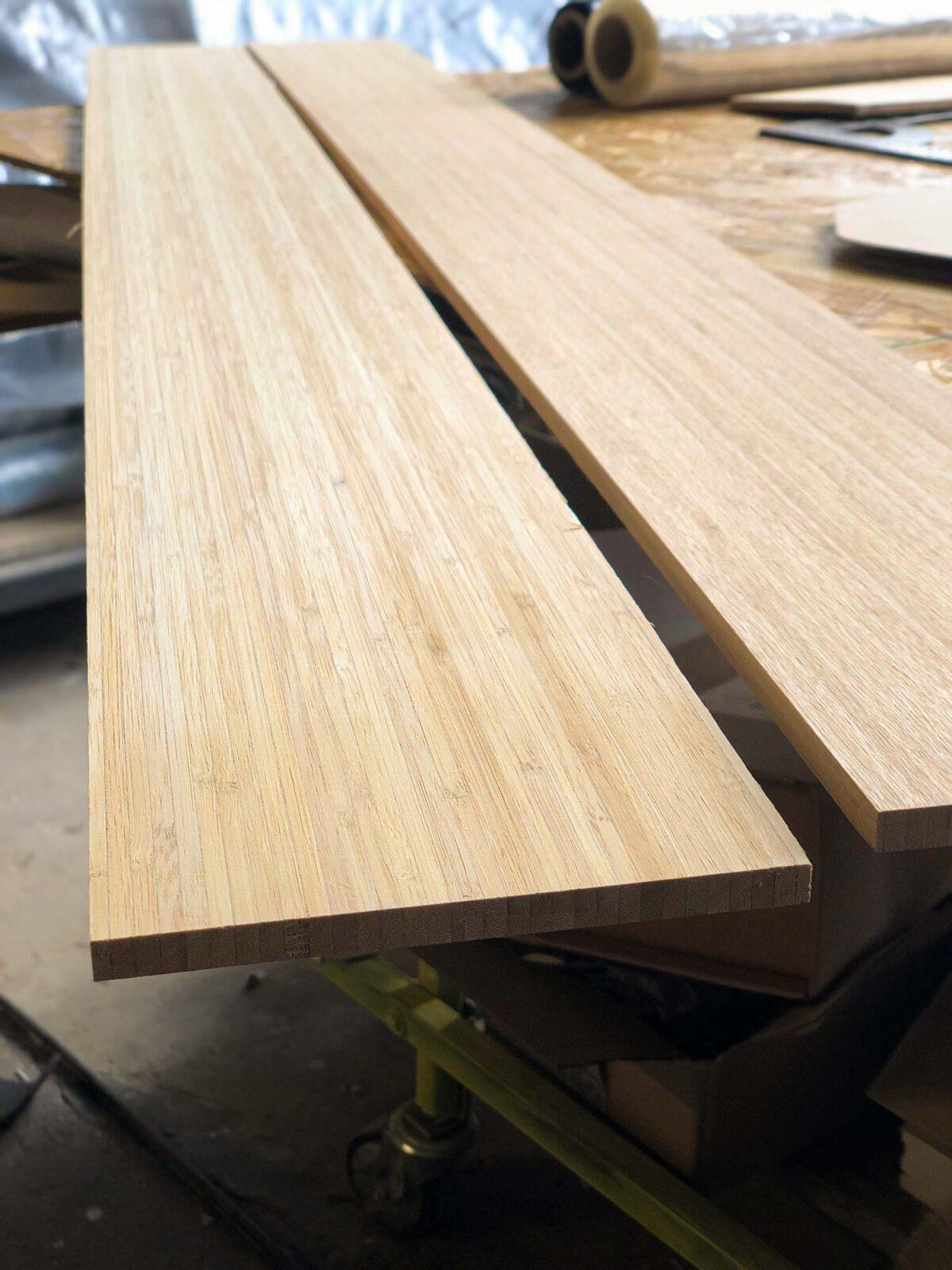 Noyau bamboo skis