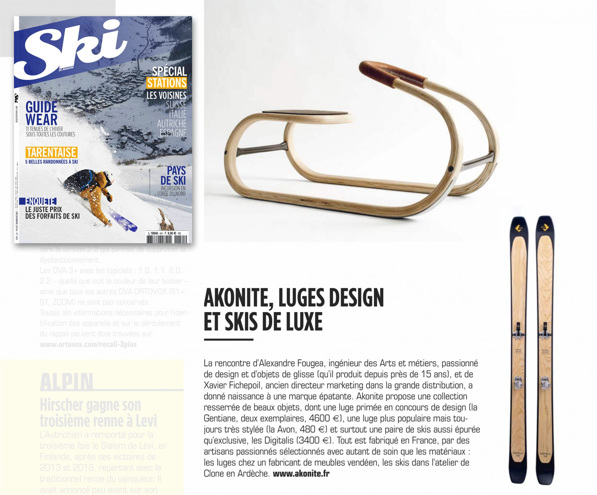 Clone Ind, des snowboards et des skis écolo et artistiques mag ski sept 2019 akonite clone